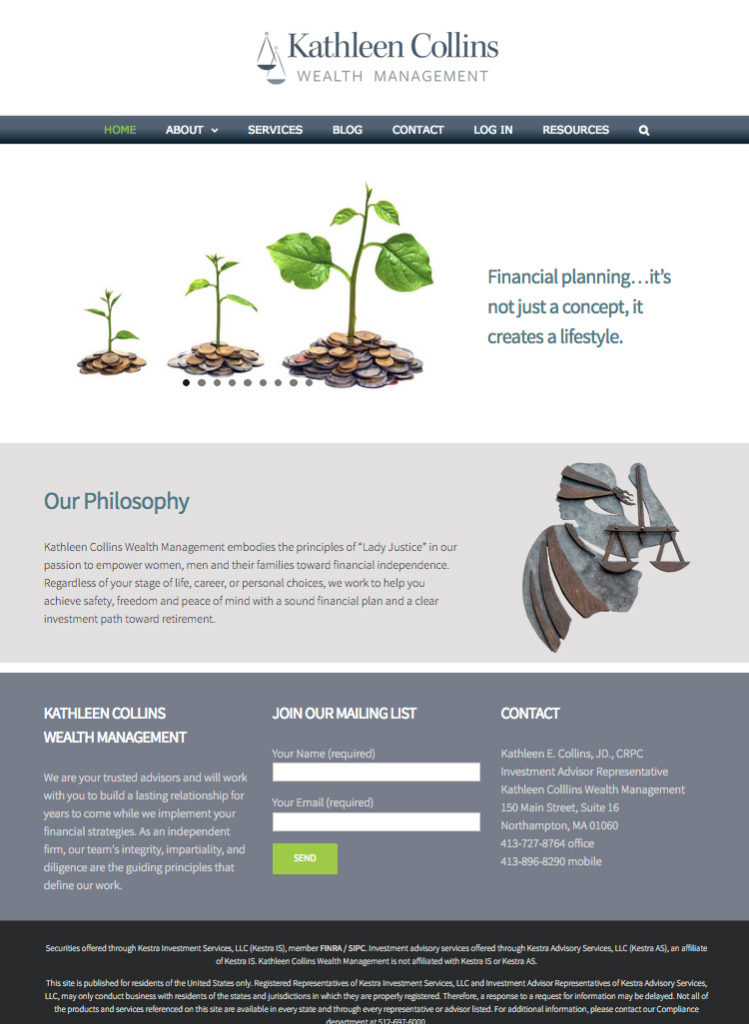 Kathleen Collins Wealth Management Website